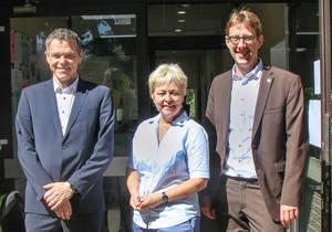 Gemeinsames Engagement für den Germaniagarten-Kiez: Jörn Oltmann Jutta Kaddatz und Jochen Biedermann. Foto: BA Tempelhof-Schöneberg