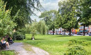 Die Dorfaue Zehlendorf hat Potential.