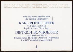 Seit 1916 lebte die Familie Bonhoeffer in der Wangenheimstraße in Grunewald.