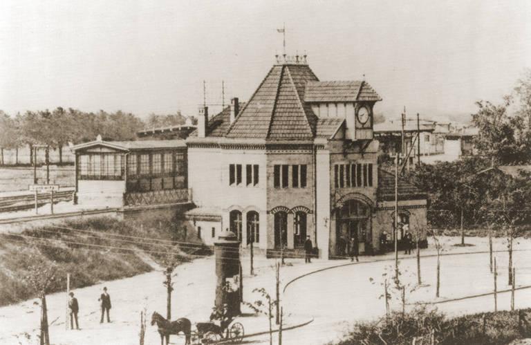 Der Bahnhof Lankwitz um 1900.