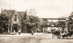 Bahnhof Zehlendorf im Jahr 1912.