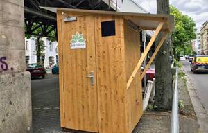 Ökotoilette an der Ecke Bülowstraße/Frobenstraße. Foto: Ecotoiletten