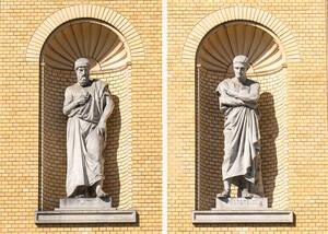 Der griechische Philosoph Platon sein Schüler Sokrates.