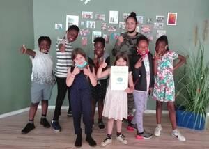 Die jungen Kinder des Schutzengel-Hauses freuen sich über die Unterstützung. Foto: SchutzengelWerk gGmbH