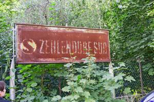 Überreste des ehemaligen Bahnhofs Zehlendorf Süd.