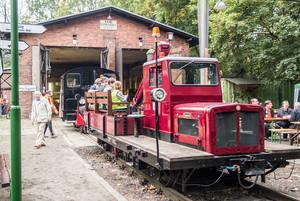 An den Tagen der offenen Tür bietet die AG Märkische Kleinbahn Eisenbahngeschichte zum Anfassen.