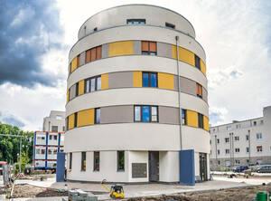 """Wohnen im Turm"" am Wormbacher Weg 8."