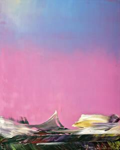 Hubert Scheibl, Echo Lake, 2017/18, Öl auf Leinwand, 150 x 120cm. Foto: Klaus Michalek, courtesy Galerie Kornfeld, Berlin
