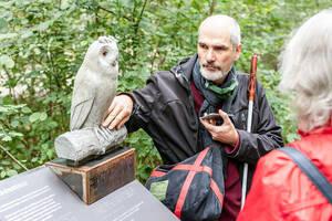 Bahnbrechende Natur: Tastbares Objekt Waldohreule. Foto: Frank Sperling