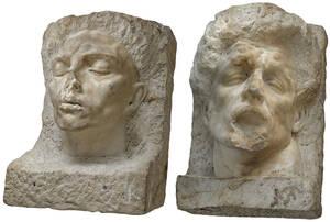 Links: Arno Breker, Romanichel, 1940.  Rechts: noch nicht identifizierte Plastik.  Foto:  GunterLepkowski, 2020