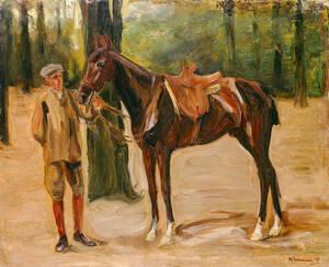 Reitknecht mit Pferd, 1912, Privatsammlung. Foto: Grisebach GmbH