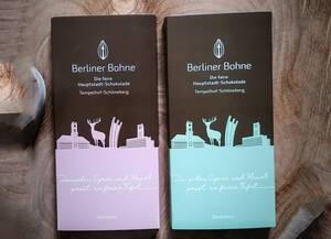 Zweimal Fairtrade-Schokolade Tempelhof-Schöneberg: Vollmilch und zartbitter. Foto: Wirtschaftsförderung