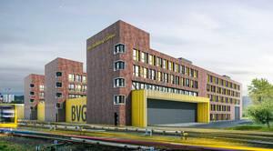 So soll das neue Ausbildungszentrum der BVG aussehen. Grafik: Sweco