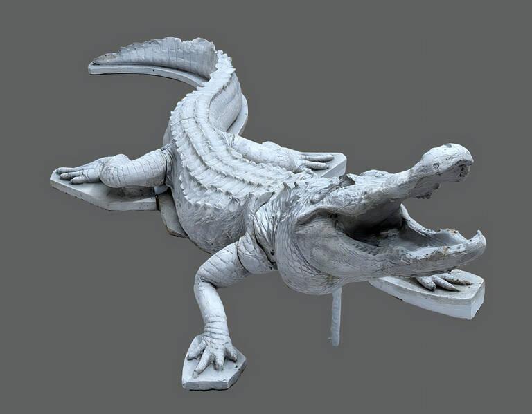 3D-Modell des Mastermodells eines Krokodils. Grafik: Staatliche Museen zu Berlin, Gipsformerei/Studio Jester Blank