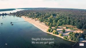 Eigener Strand und mehr – der Imagefilm stellt die Facetten von Steglitz-Zehlendorf vor. Foto: lookzoom Filmproduktion