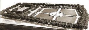Modell des Mierendorffplatz von 1912. Foto: Bezirksamt Charlottenburg-Wilmersdorf