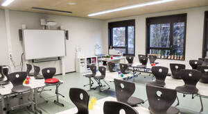 Kernsaniertes Klassenzimmer. Foto: Bezirksamt Steglitz-Zehlendorf