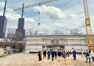 Richtfest des Erweiterungsbaus der Giesensdorfer Grundschule am 03.12.2020.Bild: Bezirksamt Steglitz-Zehlendorf