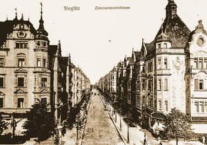 Zimmermannstraße um 1910.Archiv A. Koska