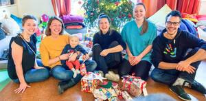 Dem Kinderhospiz Berliner Herz schenkten Fayez Gilke (r,) und der Verein viel mehr als ein Lächeln… Foto: SdmeL