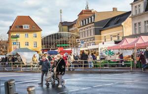 Markt am Kranoldplatz.