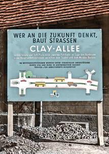 Bauschild vor dem heutigen Heimatmuseum Zehlendorf von 1955.Archiv HVZ