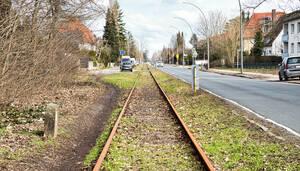 Die Schienen der Goerzbahn werden nur noch selten genutzt.