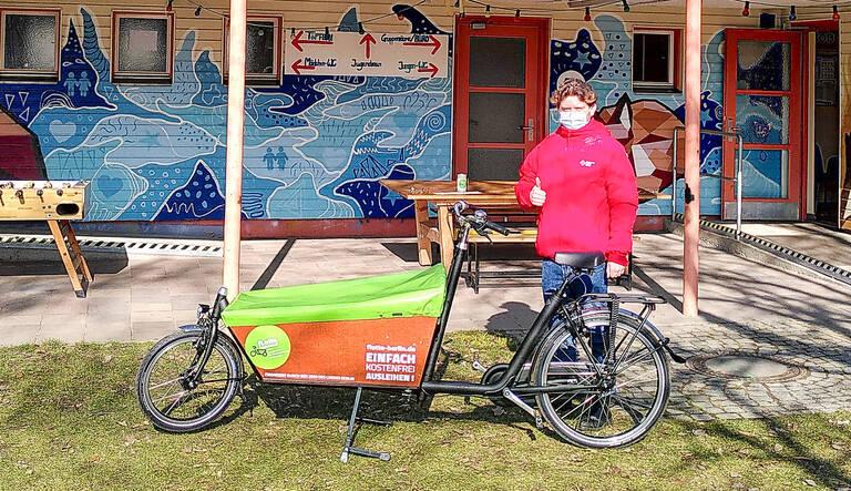 """""""Plöner Bike"""" – das erste Lastenrad der bezirklichen """"fLotte kommunal"""". Foto: BACW"""