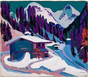 Ernst Ludwig Kirchner, Wildboden im Schnee, 1924, Öl auf Leinwand, Sammlung E.W. Kornfeld, Bern/Davos