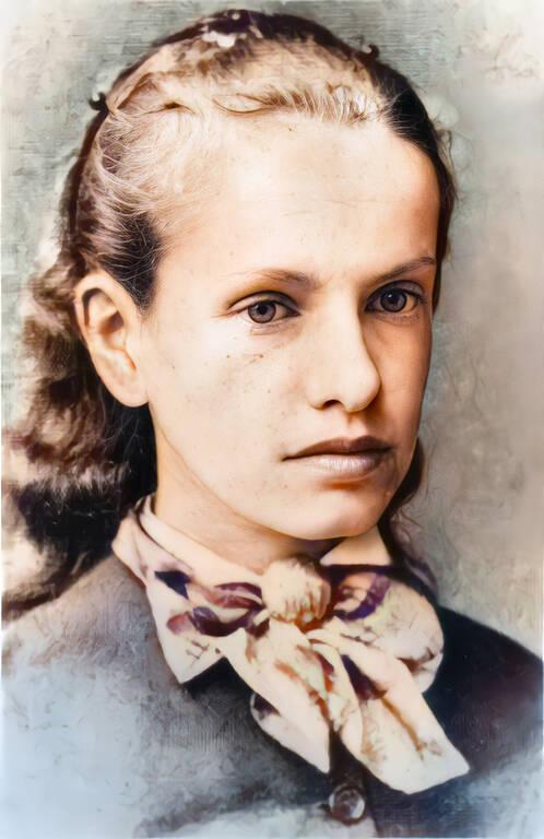 Jugendbild – Louise von Salomé mit 16Jahren.