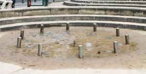 Wasserspielplatz am Stuttgarter Platz. Foto: BACW