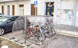 Radgaragen im Klausenerplatz-Kiez.
