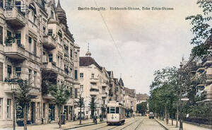 Straßenbahn auf der Birkbuschstraße.