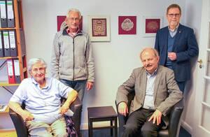 Vertreter des GCJZ-Vorstandteams (v.l.n.r.): Jael Botsch-Fitterling, Norbert Kopp, Bernd Streich und Reinhard Naumann.