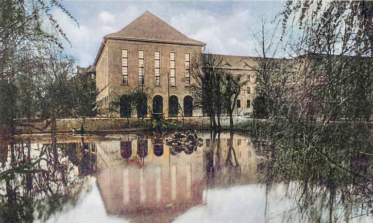 Rathaus Zehlendorf am Dorfanger in den 1930er-Jahren. Foto: Archiv HVZ