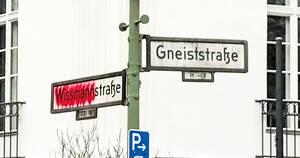 Baraschstraße soll künftig statt Wissmannstraße auf den Schildern stehen. Foto: Heike Hartmann