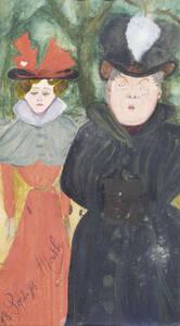 Mathilde Tardif, ohne Titel (Empörung), 1898, Mischtechnik auf Papier, Sammlung Marion Winter, Bayreuth