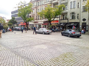 Fußgängerzone am Breslauer Platz. Foto: Initiative Breslauer Platz