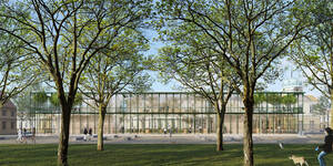 Dem Entwurf von bez+kock architekten bda aus Stuttgart wurde der 1.Preis zugesprochen. Visualisierung: bez+kock architekten bda