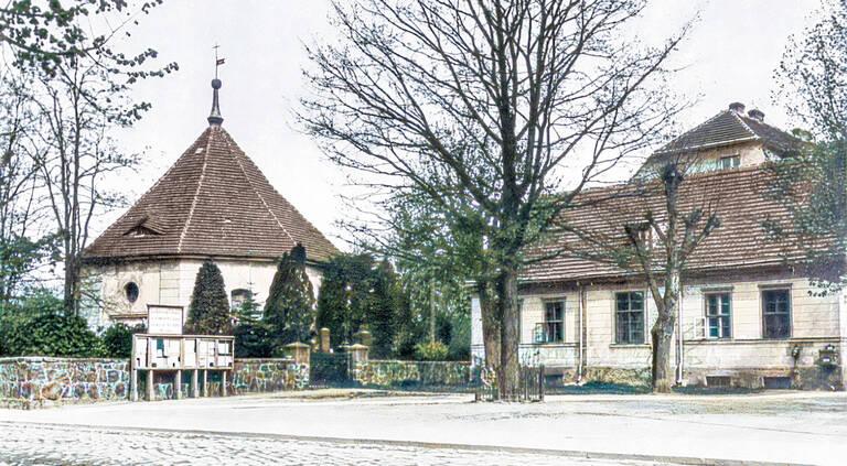 Historischer Winkel mit Friedenseiche um 1909.