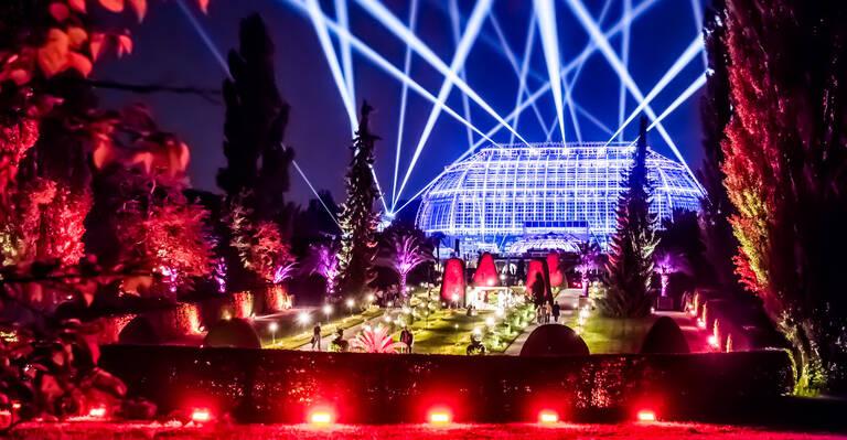 Botanische Nacht im Botanischen Garten Berlin. Foto: David Marschalsky