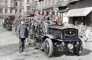 Berliner Feuerwehr um 1910. Archiv Berliner Feuerwehr