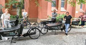 Die fünf E-Lastenfahrräder stehen für die Jugendarbeit zur Verfügung. Foto: Ev. Kirchenkreis Teltow-Zehlendorf