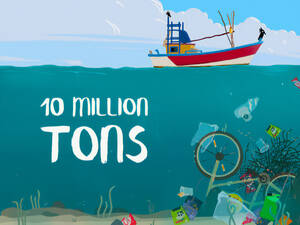 "Das Cover der Game App ""10 Million Tons"".Grafik: SBNE"