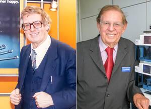 Dr.Herbert Knauer in den 80ern und heute. Archiv KNAUER