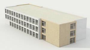 Modulare Ergänzungsbauten in Holzmodulbauweise.Bild: Putzmann Binder Architekten PartGmbB