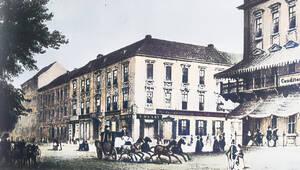 Kranzler-Ecke um 1830.