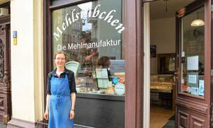 """Wenn´s ums Mehl geht, Nicole Kamrath und ihr """"Mehlstübchen""""."""