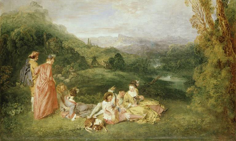Antoine Watteau, L'Amour paisible. Die friedliche Liebe, 1718/1719. Foto: SPSG/Jörg P. Anders