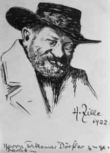 Heinrich Zille, Selbstporträt von 1922.